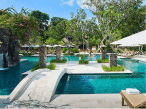 One of the tropical pools of the Bali Hyatt Sanur