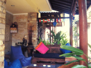 Relax in the outdoor area of the Duck Inn Sanur