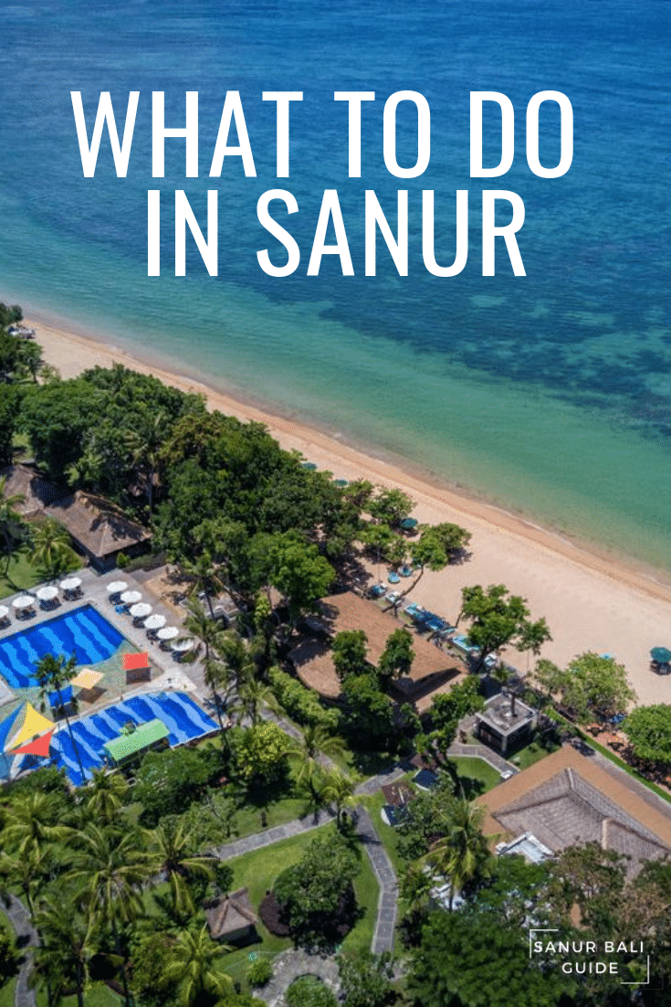 Picture overlooking the beach front at Sanur Bali