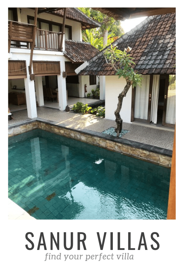 Overlooking a private pool in a Sanur Villa, Bali